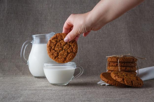 Овсяное печенье Premium Фотографии