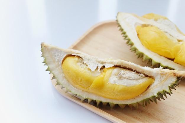 Durain fruit on white background. thai fruit. | Premium Photo