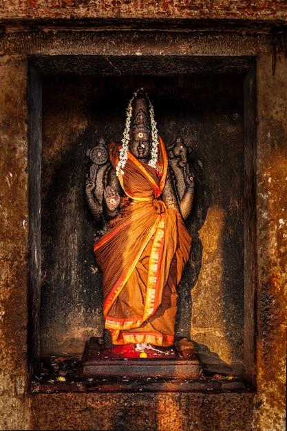 Durga image in hindu temple Premium Photo