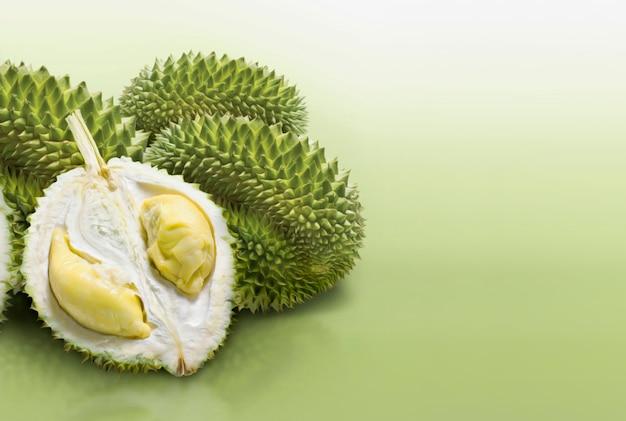 Durian fruit slice Premium Photo