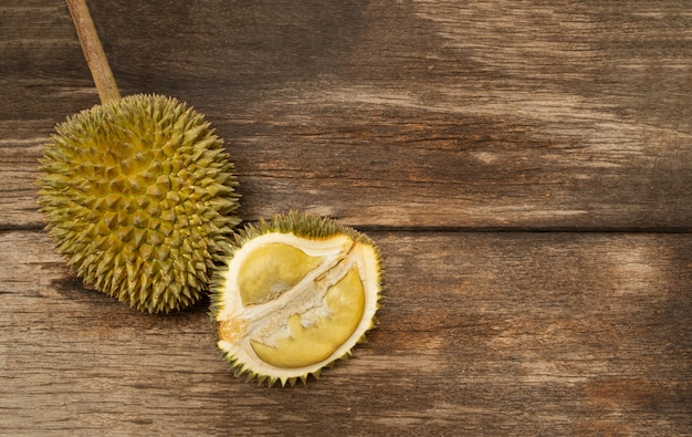 Durian tropical fruit from southeast asia very popular in thailand. Premium Photo