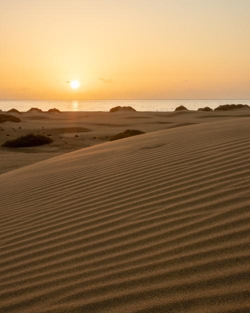 Alba di primo mattino tra le dune di maspalomas Foto Gratuite