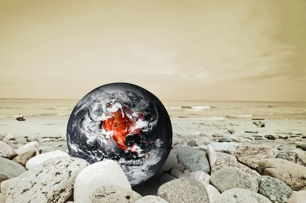 Earth planet in danger Free Photo