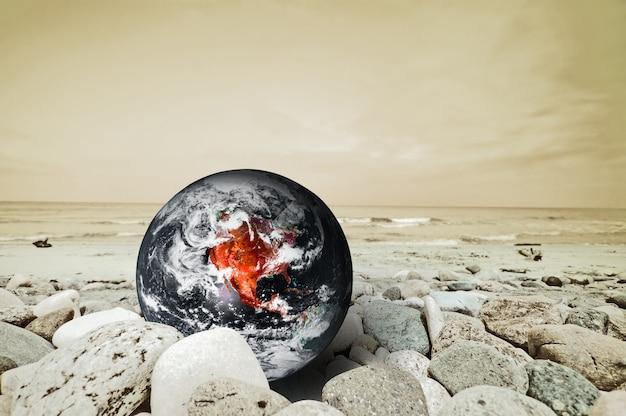 위험에 지구 행성 무료 사진