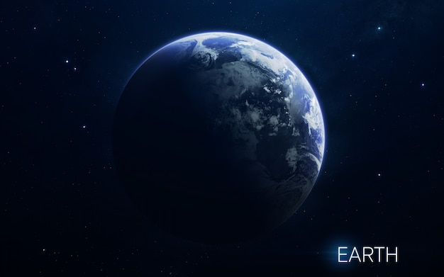 Earth - planets of the solar system in high quality. science wallpaper. Premium Photo