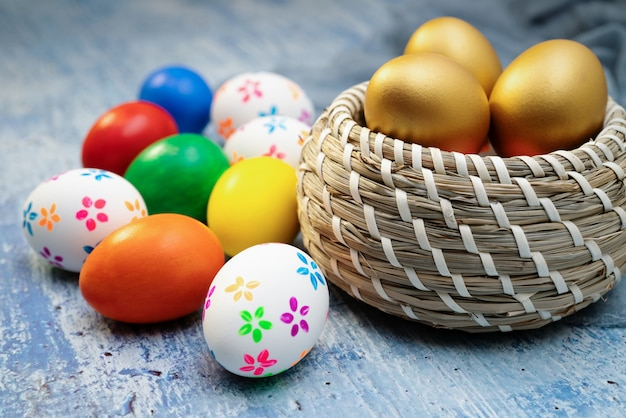 Easter egg, happy easter sunday hunt holiday decorations Premium Photo
