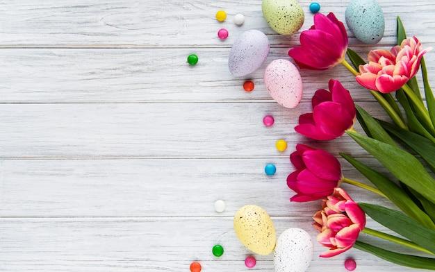 Easter holiday background Premium Photo