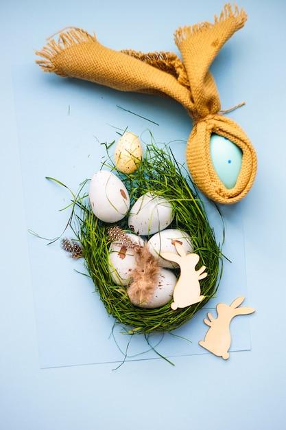 Easter holiday eggs Premium Photo