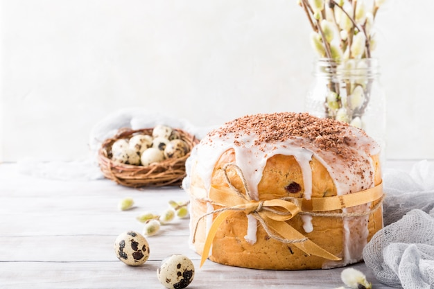 Easter orthodox sweet bread Premium Photo