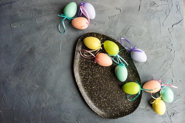 Easter table setting Premium Photo