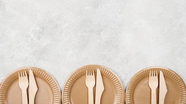 Экологичная одноразовая посуда для копирования Бесплатные Фотографии