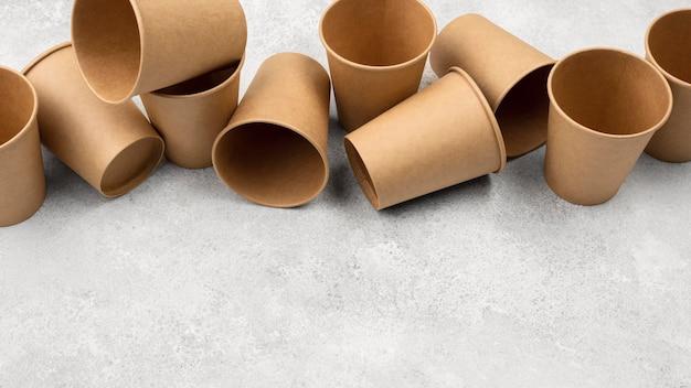 Экологичная одноразовая посуда high view Бесплатные Фотографии