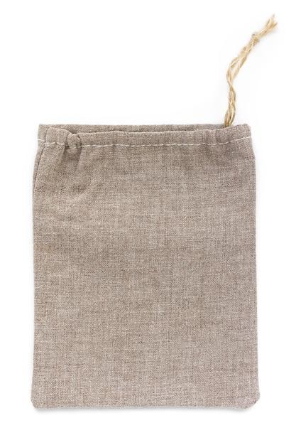 Мешки из натурального хлопка eco, из льна, макет Premium Фотографии
