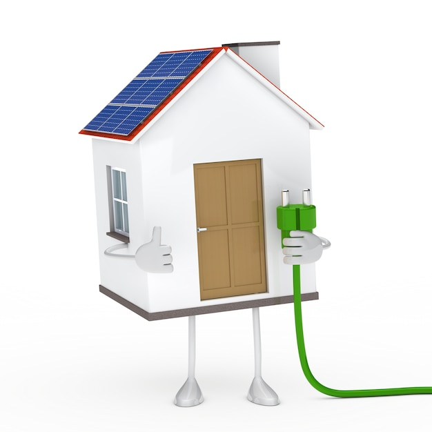 Ecological house with green wire Free Photo