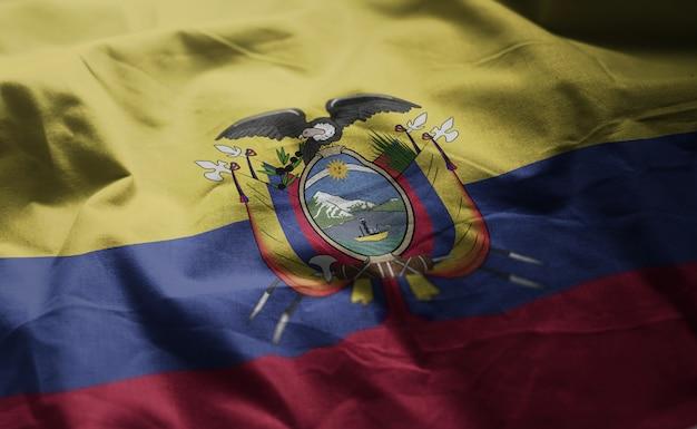 Ecuador flag rumpled close up Premium Photo