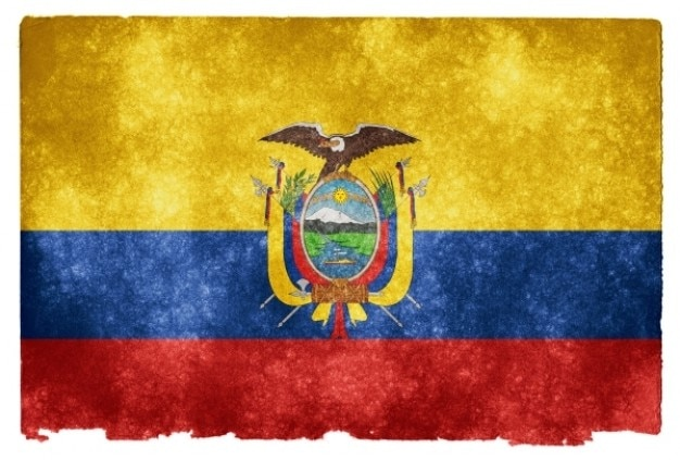 Ecuador grunge flag Free Photo