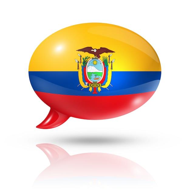 Ecuadorian flag speech bubble Premium Photo