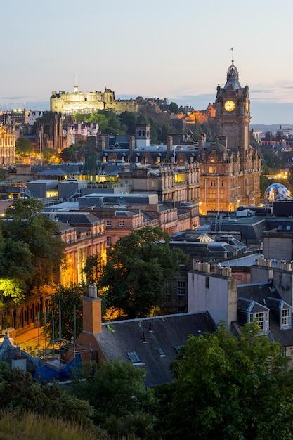 Edinburgh city from calton hill, scotland, uk, Premium Photo