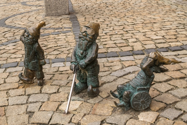 Editorial image of wroclaw gnome in old city center Premium Photo