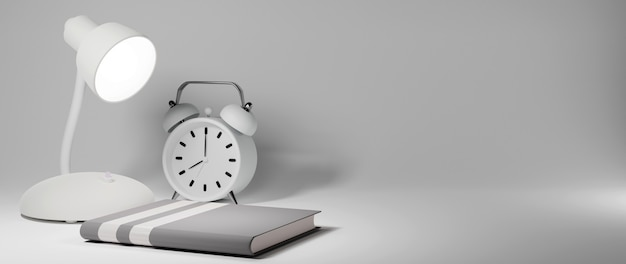 Education concept. 3d of book on white background. modern flat design isometric concept Premium Photo
