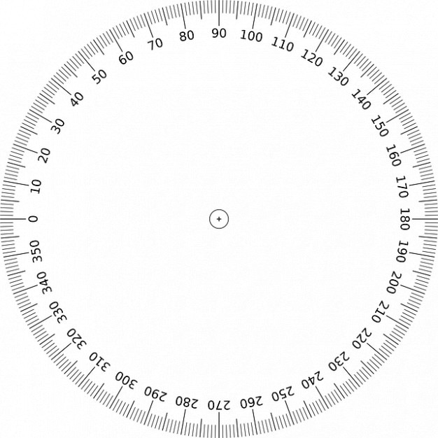 photo regarding 360 Degree Protractor Printable known as Training math circle geometry perspective higher education Picture Free of charge