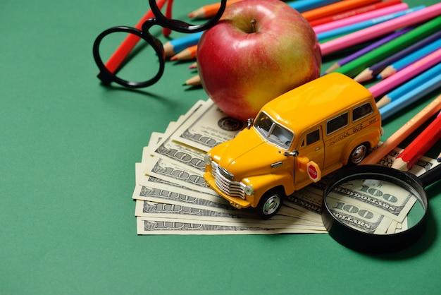 Education and money, dollar cash. Premium Photo
