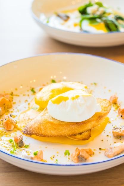 Egg benedict with salmon Free Photo