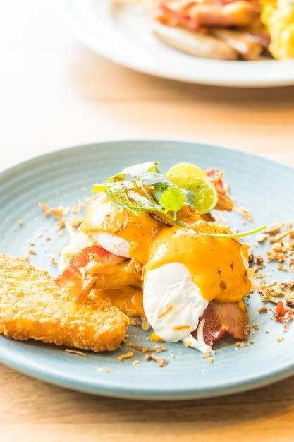 Egg benedict Free Photo
