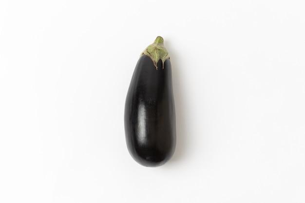 Eggplant on white background Premium Photo