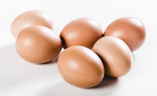 Eggs isolated on white background Premium Photo