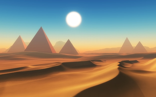 Egyptian desert design Free Photo