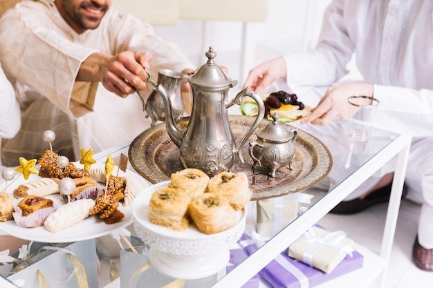 Best Snack Eid Al-Fitr Food - eid-al-fitr-concept-with-tea_23-2147799444  Collection_829645 .jpg