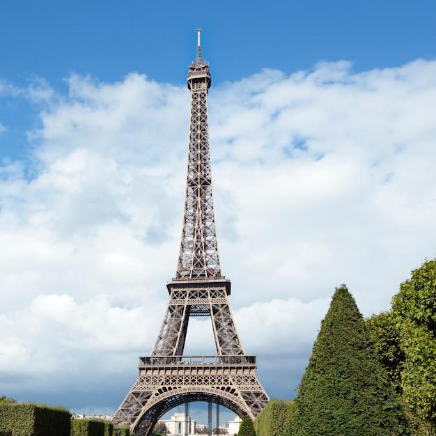 Eiffel tower distant landscape view Free Photo