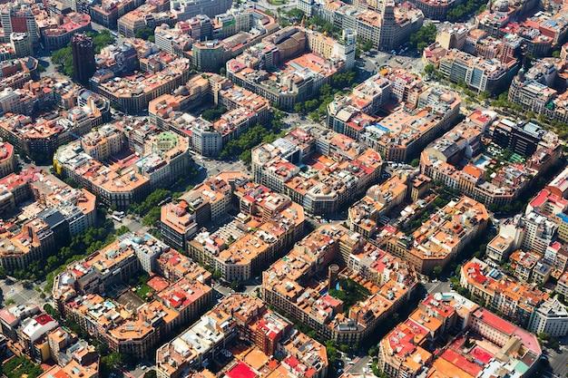 Eixample地区の航空写真スペイン、バルセロナ 無料写真