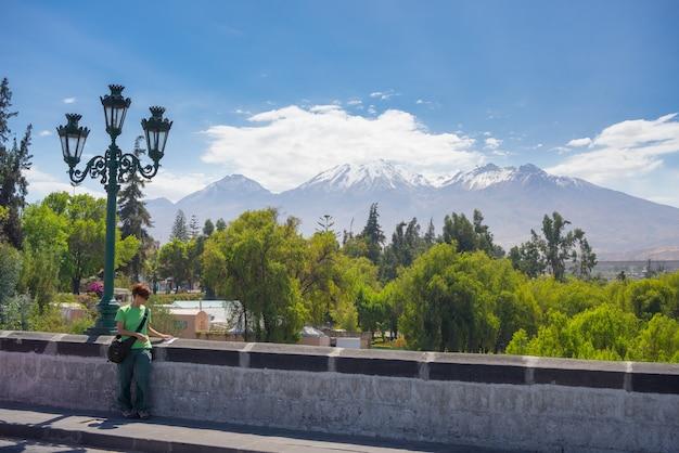 El misti volcano, getting around in arequipa, peru Premium Photo