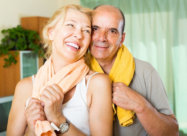 Elderly couple after training Free Photo