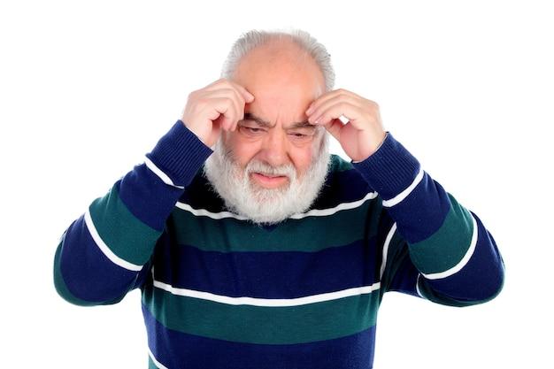 Elderly man with worried gesture Premium Photo