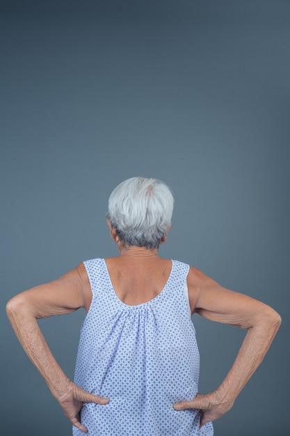 Elderly women with pain. Free Photo