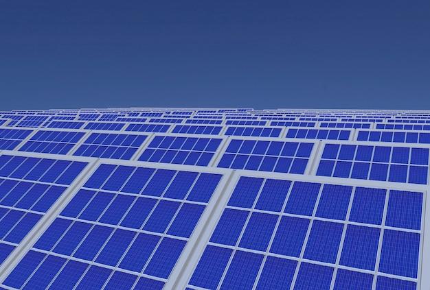 Electirc energy generator system, solar cells panels field