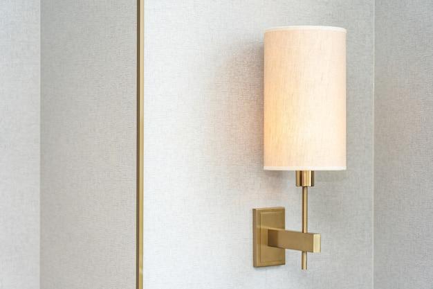 Electric light lamp decoration interior of bedroom Free Photo