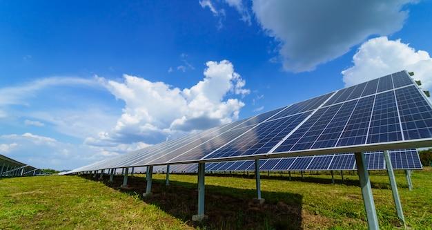 Electric solar panels Premium Photo