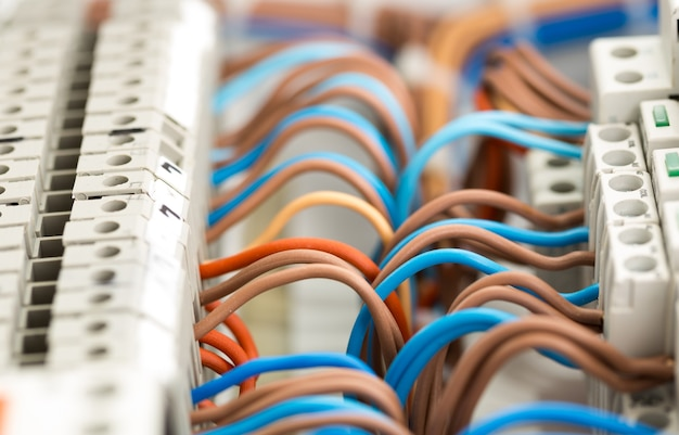 Электрические провода Premium Фотографии