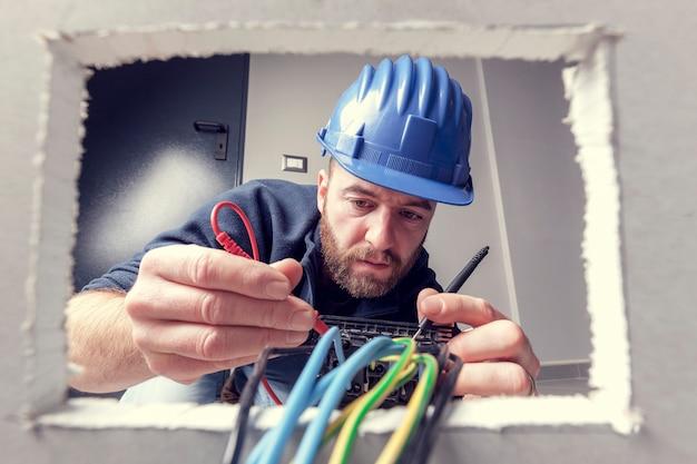 Electrician at work Premium Photo
