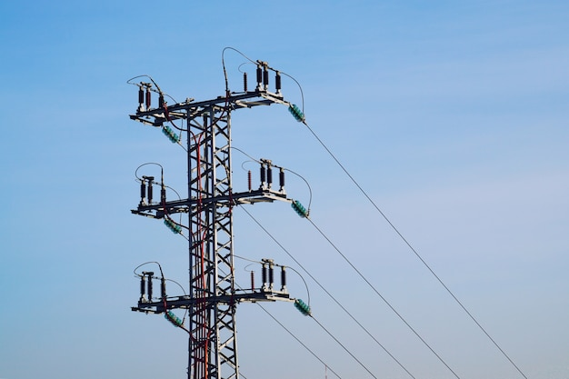 Electricity tower and sky Premium Photo