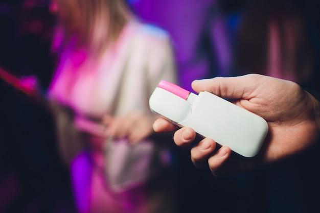 Electronic cigarettes, technology cigarette. Premium Photo