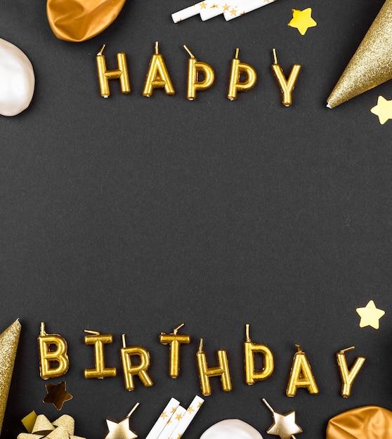 Элегантная рамка для украшения дня рождения Premium Фотографии