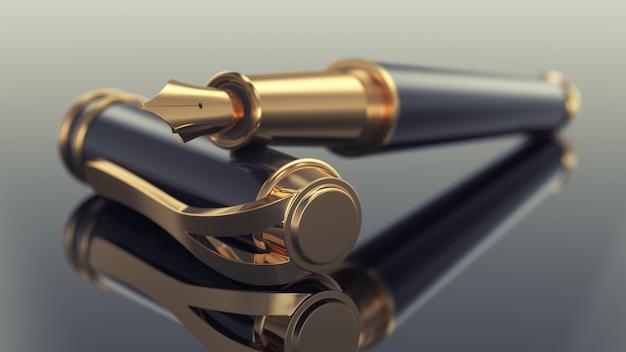 Elegant business fountain pen Premium Photo