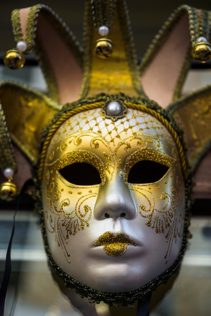 Elegant composition with venetian carnival's mask Free Photo