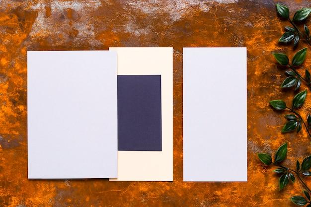 Elegant invitation mock-up on wood table Free Photo