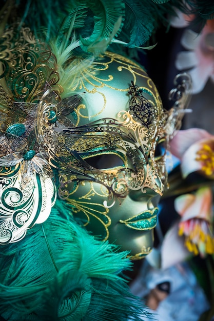 Elegant mask of venetian carnival Free Photo